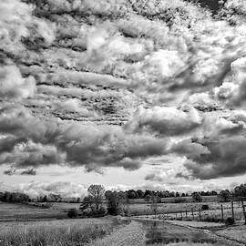Rural New Paltz Hudson Valley, Ny Bw by Susan Candelario