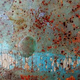 Rust and Paint Abstract by Denise Clark