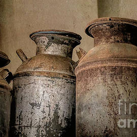 Rusty Milk Cans by Elisabeth Lucas
