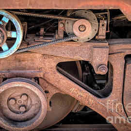 Rusty Train Wheel by Elisabeth Lucas