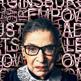 Ruth Bader Ginsburg Women's Rights Female Power by Tony Rubino