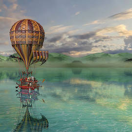 Sailing Away Daydream Steampunk by Betsy Knapp
