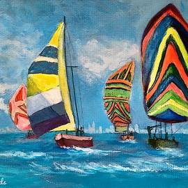 Sailing the Hudson by Anne Sands