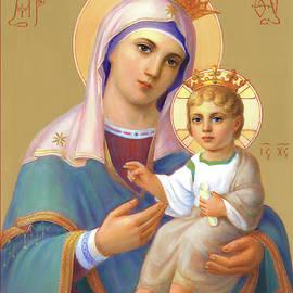 Saint Virgin Mary With Child Jesus by Svitozar Nenyuk