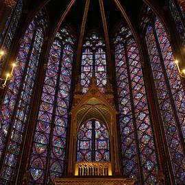 Sainte Chapelle Paris France Stained Glass Vertical by Wayne Moran
