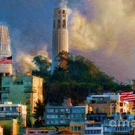Salesforce Tower Coit Tower Transamerica Pyramid by Blake Richards