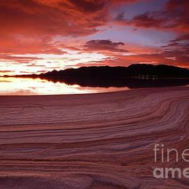 Salt Patterns At Twilight Salar De Uyuni Bolivia by James Brunker