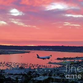 San Diego Sunset Landing by Barbie Corbett-Newmin