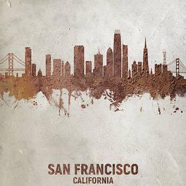 Michael Tompsett - San Francisco California Rust Skyline