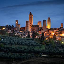 San Gimignano Tuscany Italy by Joan Carroll