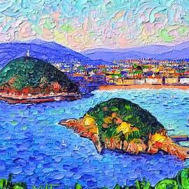 SAN SEBASTIAN SPAIN modern impressionism textural impasto knife oil painting by Ana Maria Edulescu by Ana Maria Edulescu