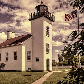 Sand Point Lighthouse by Wes Iversen