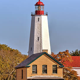 Sandy Hook lighthouse autumn scenic series by Geraldine Scull