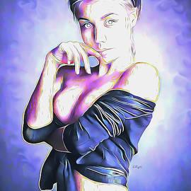 Sanela portrait illustration by Nenad Vasic
