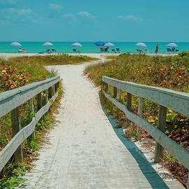 Sanibel Beach Umbrellas by Susan Rydberg