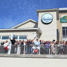 Sanibel's Oceanside Ribbon Cutting by Robert Banach