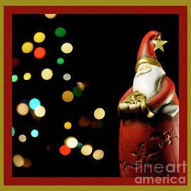 Santa and Bokeh Christmas Tree by Wendy Wilton