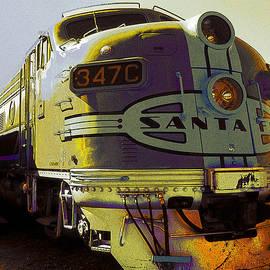 Santa Fe Railroad 347C - Digital Artwork by Peter Potter