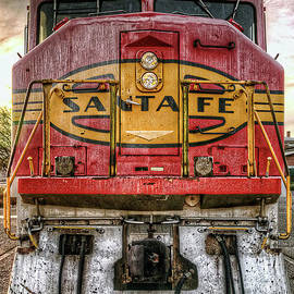 Santa Fe Train Engine by Eddie Yerkish