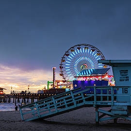 Santa Monica Lifeguard Tower 16 by Gene Parks