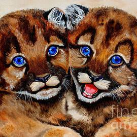 Santa Monica Mountain Lion Cubs by Pechez Sepehri