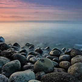 Santiago beach. Purple sunrise. La Gomera Island by Guido Montanes Castillo