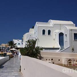 Santorini Street Scene  by Christiane Schulze Art And Photography