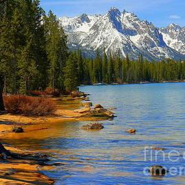 Sawtooth Mountain Range Redfish Lake Adventures Stanley Idaho by Art Sandi