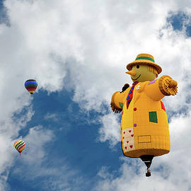 Scarecrow And Friends Flying High by John Bartelt