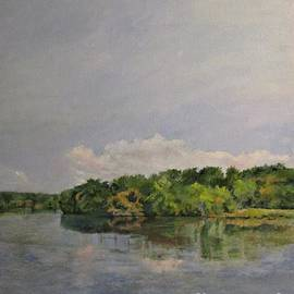 Scene Along the Mohawk River, New York by Barbara Moak