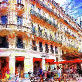 Scene in Nimes France by Jack Torcello