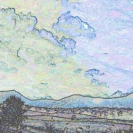 Scenic Country Too in Abstract 2 by Marian Bell
