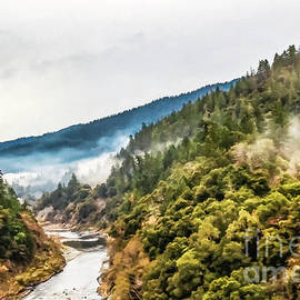 Scenic View On A Misty Morning On The River by Susan Vineyard