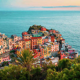 Scenic Village Of Manarola Cinque Terre Italy - Dwp1721006 by Dean Wittle