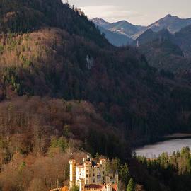 Schloss Hohenschwangau, From Mountain by Glenn Van Der Knijff
