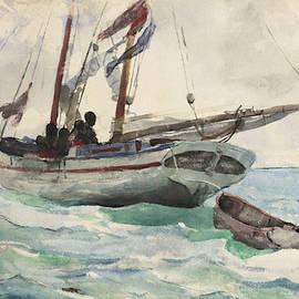 Schooner - Nassau by Winslow Homer