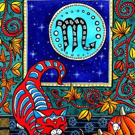 Scorpio Cat Zodiac by Dora Hathazi Mendes