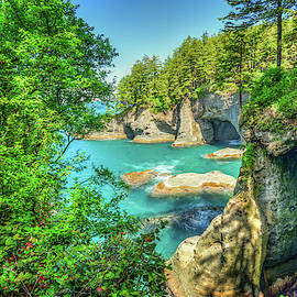 Sea Caves at Cape Flattery by Spencer McDonald