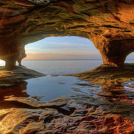 Sea Caves on Lake Superior by Alex Nikitsin