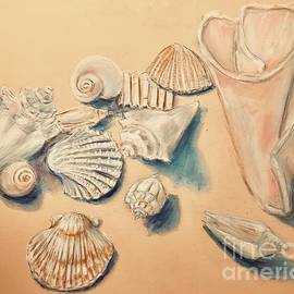 Sea Shells Pastel Drawing  by Lavender Liu