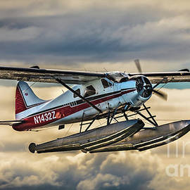 Seaplane In The Anchorage Sky by Lyl Dil Creations
