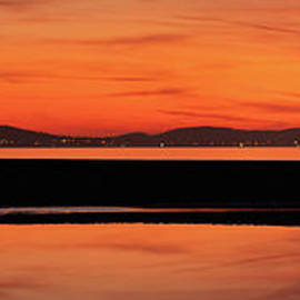 Seascape Sunset Panorama by Adrian Evans