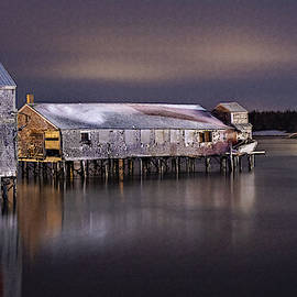 Seasonal Smokehouse and Lighthouse by Marty Saccone