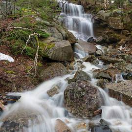 Seasonal Waterfall - Franconia Notch, New Hampshire by Erin Paul Donovan