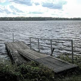 Seasoned Dock on Wingfoot Lake by Dennis Lundell