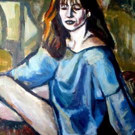 Seated woman by Helena Wierzbicki