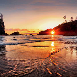 Second Beach 3 by Leland D Howard
