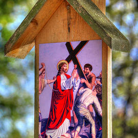 Second Station of the Cross - Jesus Takes Up His Cross - Matthew 27, Verses 27-31 by Michael Mazaika