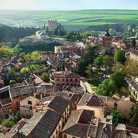 Segovia city and Alcazar from the Cathedral - Spain by Fine Art Photography Prints By Eduardo Accorinti