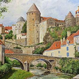 Semur en Auxois by Alan Lakin